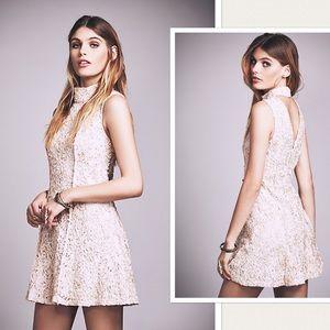 NWT Free People Anne Mock Neck Mini Dress